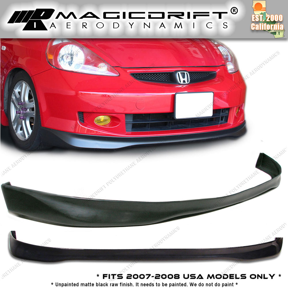 made for 07 08 honda fit tr type r style front bumper lip spoiler poly urethane picclick. Black Bedroom Furniture Sets. Home Design Ideas